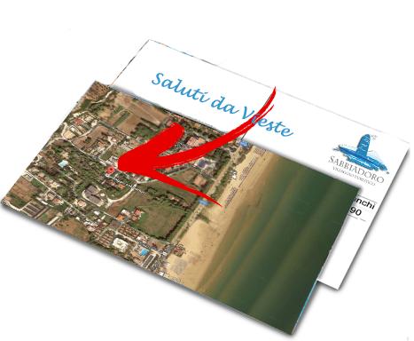cartolina vieste posizione villaggio sabbiadoro